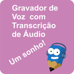 Lápis Azul Gravador de Voz com Transcrição de Áudio