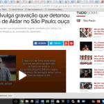 Imagem da página do Globo Esporte