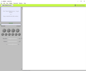InqScribe tela principal