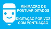 Minimacro de pontuar ditado para usar em transcrição de áudio em texto automático