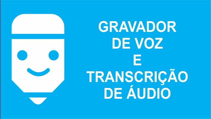 Gravador de voz e transcrição de áudio em transcricao de audiof em texto