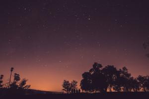 céu estrelado noite